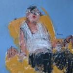 La sieste d'un seul oeil, Mixte sur toile, 100 x 81 cm